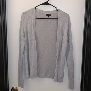 Express Gray Cardigan in Size Medium